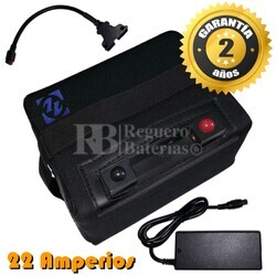 Batería Litio Carro de Golf 12 voltios 22 Amperios