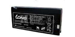 Bateria LONG AGM de 12 Voltios 2 Amperios WP1250 143x23x64 mm