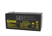 Bateria LONG AGM de 12 Voltios 3,3 Amperios 13W WP1213W 134x67x65 mm