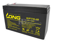 Bateria LONG AGM de 12 Voltios 7,5 Amperios WP7.5-12(Faston 6,35) 151x65x94 mm