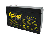 Bateria LONG AGM de 12 Voltios 7 Amperios WP7-12B 151x65x95 mm