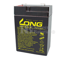 Bateria LONG AGM de 6 Voltios 4.5 Amperios WP4.5-6 70x47x101 mm