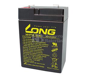 Bateria LONG AGM de 6 Voltios 4,5 Amperios WP4.5-6 70x47x101 mm