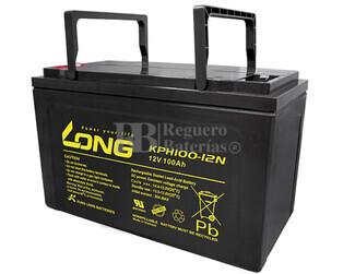 Bateria LONG de Gel  12 Voltios 100 Amperios KPH100-12N  338x170x215 mm
