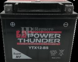 Batería Moto 12 Voltios 10 Ah Power Thunder YTX12-BS