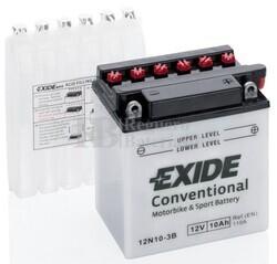 Batería Moto 12N10-3B Exide 12V 10A