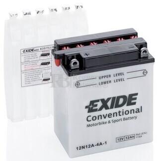 Batería Moto 12N12A-4A-1 Exide 12V 12A