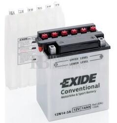 Batería Moto 12N14-3A Exide 12V 14A