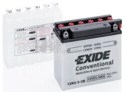 Batería Moto 12N5,5-3B Exide 12V 5,5A