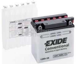 Batería Moto 12N9-3B Exide 12V 9A