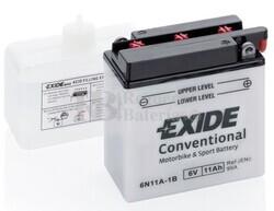 Batería Moto 6N11A-1B Exide 6V 11A