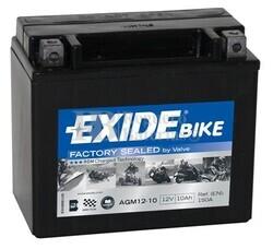 Batería Moto AGM12-10 Exide 12V 10A