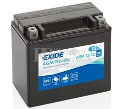Batería Moto AGM12-12 Exide 12V 12A
