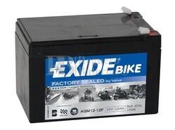 Batería Moto AGM12-12F Exide 12V 12A