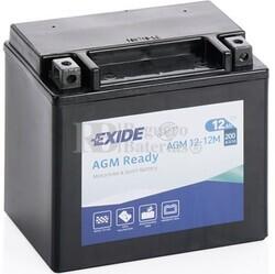 Batería Moto AGM12-12M Exide 12V 10A