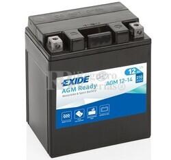Batería Moto AGM12-14 Exide 12V 14A