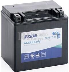 Batería Moto AGM12-16 Exide 12V 16A