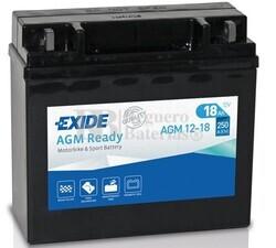 Batería Moto AGM12-18 Exide 12V 18A