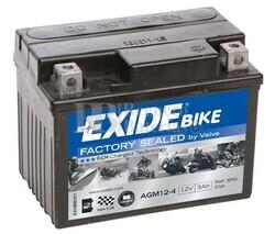 Batería Moto AGM12-4 Exide 12V 3A