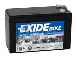 Batería Moto AGM12-7F Exide 12V 7A