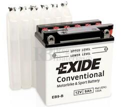 Batería Moto EB9-B Exide 12V 9A