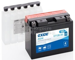Batería Moto ET12B-BS Exide 12V 10A