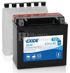 Batería Moto ETX14-BS Exide 12V 12A