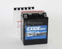Batería Moto ETX14AH-BS Exide 12V 12A