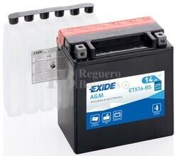 Batería Moto ETX16-BS Exide 12V 14A