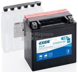 Batería Moto ETX20CH-BS Exide 12V 18A
