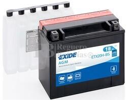 Batería Moto ETX20H-BS Exide 12V 18A