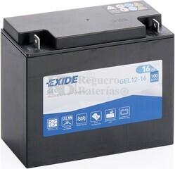 Batería Moto GEL12-16 Exide 12V 16A