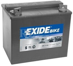 Batería Moto GEL12-30 Exide 12V 30A