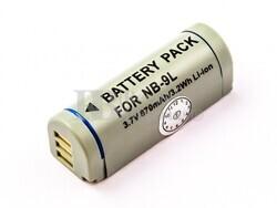Batería NB-9L para Canon IXUS 510 HS, IXUS 500 HS, IXUS 1100 HS, IXUS 1000 HS