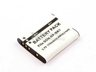 Batería NP-BK1 para cámaras Sony CYBER-SHOT DSC-W370B, CYBER-SHOT DSC-W370