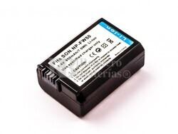Bateria NP-FW50, Li-ion, 7,4V, 950mAh, 7,0Wh, black para camaras Sony