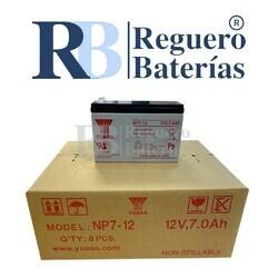 Batería Yuasa NP7-12L 12V 7A Caja 8U F2 6.35mm