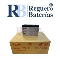Batería Yuasa NP7-12 12V 7A Caja 8U F1 4.80mm