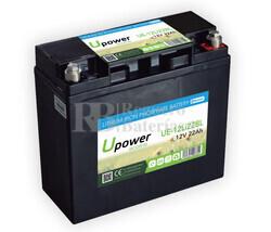 Batería Litio 12 Voltios 22 Amperios con control Bluetooth UE-12Li22BL