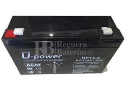 Batería para Alarma Chloride 100A74 6 Voltios 12 Amperios