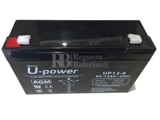 Batería para Alarma Chloride 11A74 6 Voltios 12 Amperios