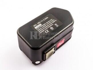 Bateria para Maquinas AEG, Atlas Copco, Milwaukee BXS 18, PN 18 X, Ni-Cd, 18V 2.000mAh