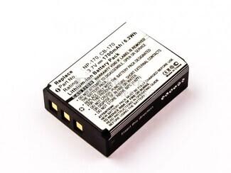 Bateria para AIPTEK  TEVI DV-23HD, Li-ion, 3,7V, 1700mAh, 6,3Wh