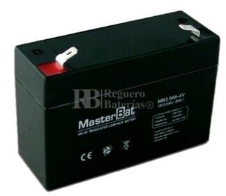 Batería para Alarma 4 voltios 3.5 amperios U-POWER UP3.5-4