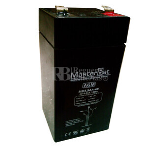 Batería para Alarma 4 voltios 4.5 amperios U-POWER UP4.5-4