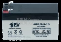 Batería para Alarma de 12 Voltios 1.3 Amperios PB1.3-12