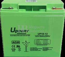 Batería para Alarma de 12 Voltios 18 Amperios NPH18-12