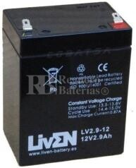 Batería para Alarma de 12 Voltios 2.9 Amperios LV2.9-12
