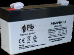 Batería para Alarma de 6 Voltios 1.3 Amperios