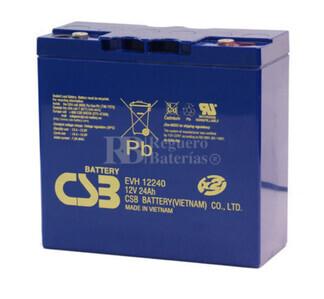 Batería Arrancador 12 voltios 24 amperios CSB EVH12240